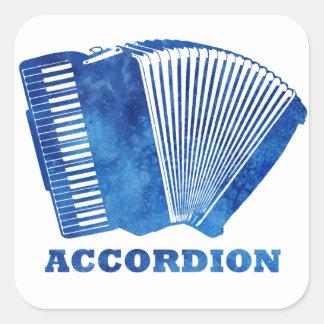 Blue Accordion Square Stickers