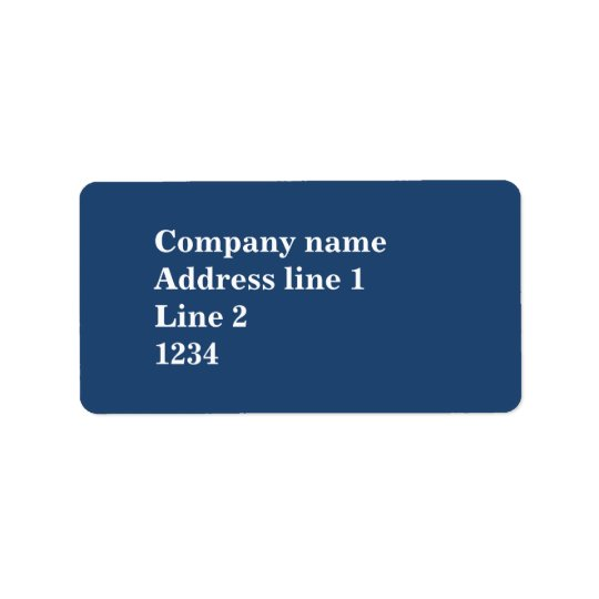 Blue Address Label