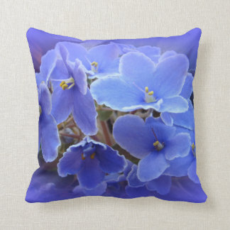Blue African Violets Cushion