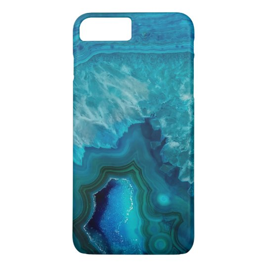 Blue Agate Crystal Geode iPhone 7 Plus Case