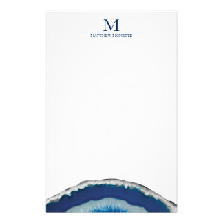 Blue Agate Stationery
