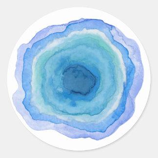 Blue Agate Stone Sticker