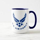 Blue Air Force Logo & Name