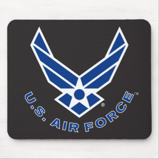 Blue Air Force Logo & Name Mouse Pad