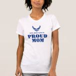 Blue Air Force Logo & Name with Outline 2 T-Shirt