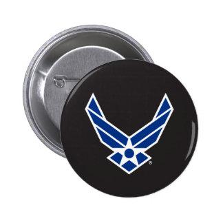 Blue Air Force Logo & Star 6 Cm Round Badge