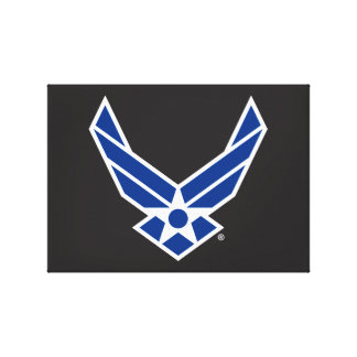 Blue Air Force Logo & Star Stretched Canvas Prints