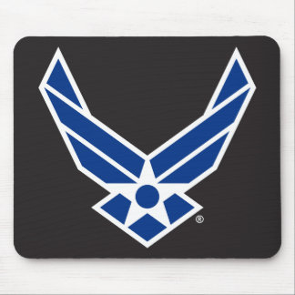 Blue Air Force Logo & Star Mouse Pad
