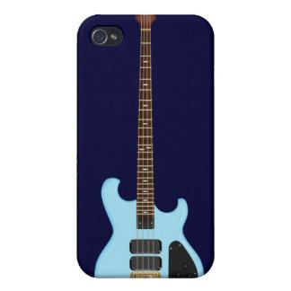 Blue Alembic Bass Guitar iPhone 4 Case