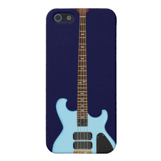 Blue Alembic Bass Guitar Case For iPhone 5