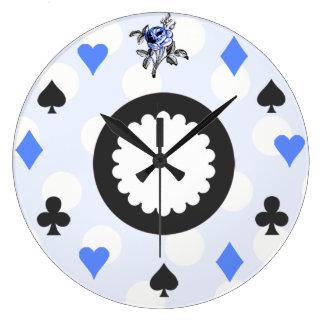 Blue Alice in Wonderland Themed Large Clock