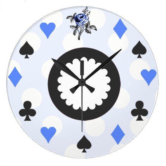 Blue Alice in Wonderland Themed Wallclock