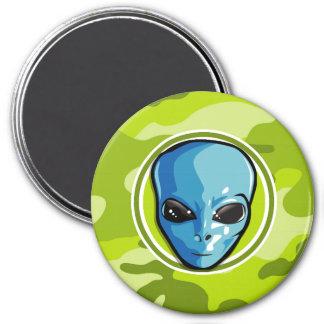 Blue Alien bright green camo camouflage Fridge Magnet