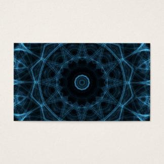 blue alien kaleidoscope business card