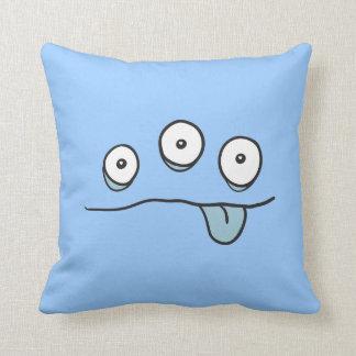 Blue Alien Monster Cushion