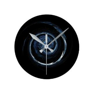 Blue Alien Round Clock