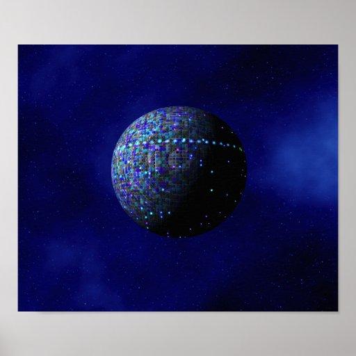 Blue Alien Satellite Poster
