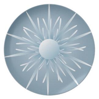 Blue Alien Spore Life Form Plate