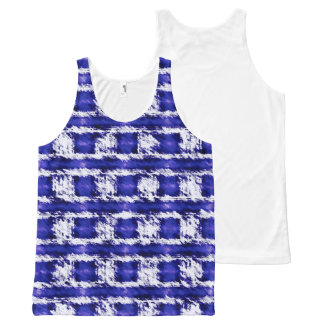 Blue All-Over Print Tank Top