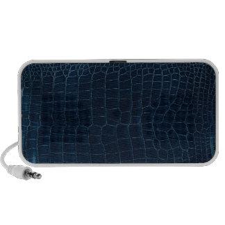 blue alligator skin travel speakers