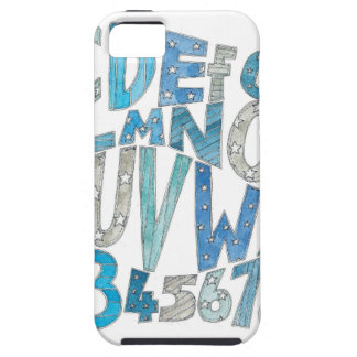 Blue Alphabet Case For The iPhone 5
