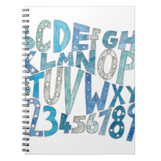 Blue Alphabet Notebook