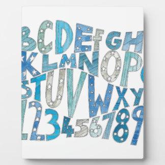 Blue Alphabet Plaque