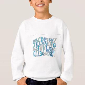 Blue Alphabet Sweatshirt