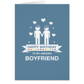 Blue | Amazing Boyfriend | Happy Birthday Card