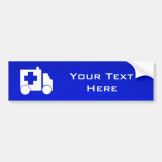 Blue Ambulance Bumper Sticker