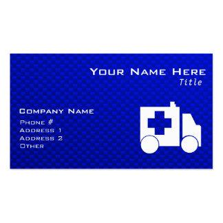 Blue Ambulance Business Card Template