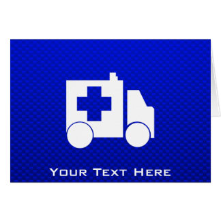 Blue Ambulance Card