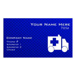 Blue Ambulance Pack Of Standard Business Cards