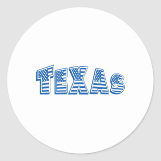 Blue American Flag Texas Sticker