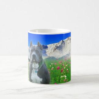 Blue American Pit Bull Terrier Pikes Peak Coffee Mug