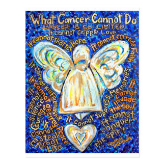 Blue & Gold Cancer Angel - Large Postcard