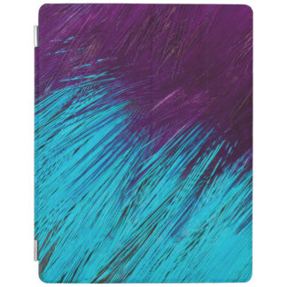 Blue An Purple Feather Abstract iPad Cover