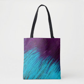 Blue An Purple Feather Abstract Tote Bag