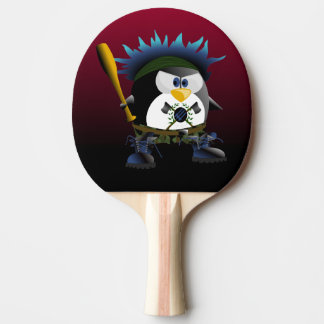 Blue Anarchy Penguin Ping Pong Paddle
