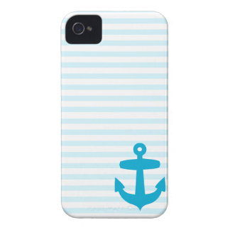 Blue Anchor and Light Blue Sailor Stripes iPhone 4 Case-Mate Cases