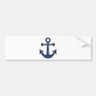 Blue Anchor Bumper Sticker