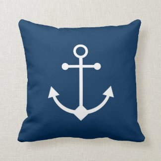 Blue anchor cushion