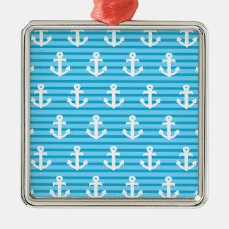 Blue Anchor Design Christmas Ornament
