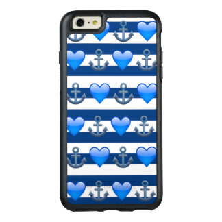 Blue Anchor Emoji iPhone 6 Plus OtterBox Case