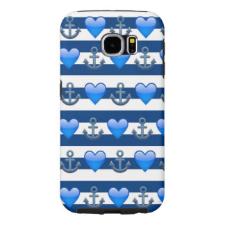 Blue Anchor Emoji Samsung Galaxy S6 Case