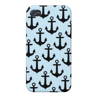 Blue Anchor iPhone 4 Glossy Finish Case