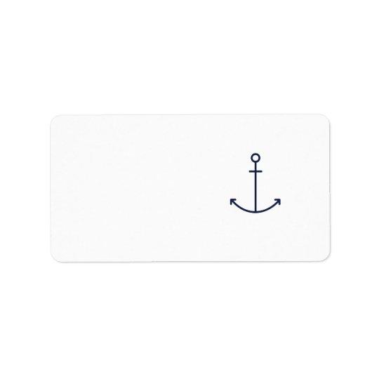 Blue Anchor Label