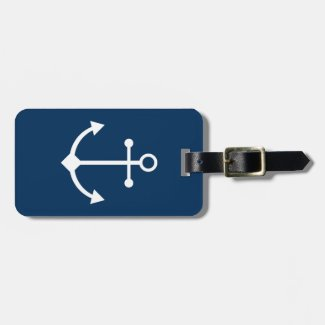 Blue anchor luggage tag