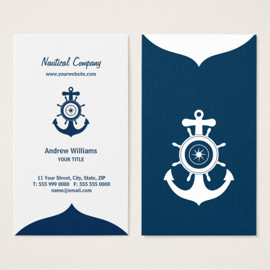 Blue Anchor Nautical business card