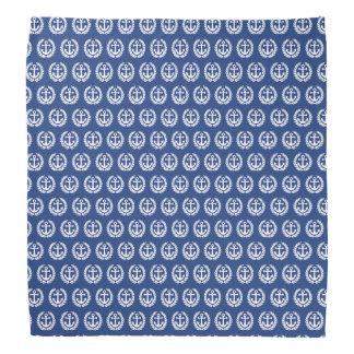 Blue anchor nautical sailors bandana